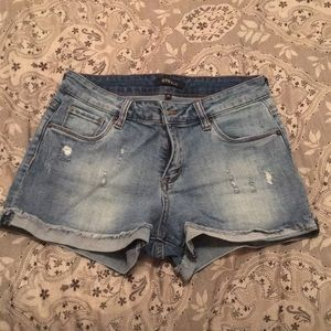 STS Blue distressed jean shorts